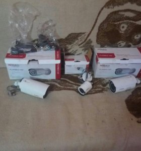 3 камеры видеонаблюдения +кабель 300 м