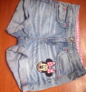 Шорты джинсовые H@M