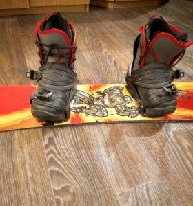 Сноуборд комплект ботинки 36 р.