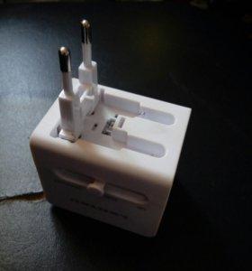 Универсальный адаптер-зарядник lentel c usb