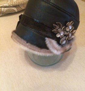 Новая шапка из кожи