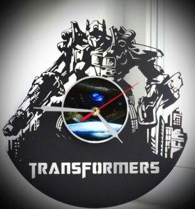 """Настенные часы """"трансформеры"""", сделанные из пла"""