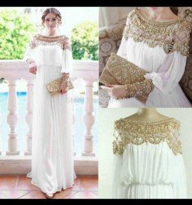 Платье (белое) в греческом стиле