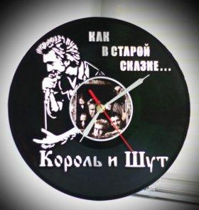 """Часы """"Король и Шут """", сделанные из пластинки"""