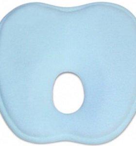 Новая Подушка для малыша. латекс голубая,
