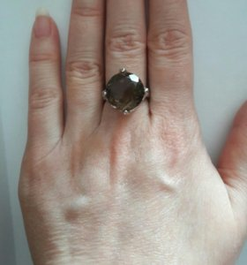Новое кольцо серебро 925 раухтопаз