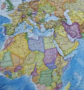 Карта мира 124*80см