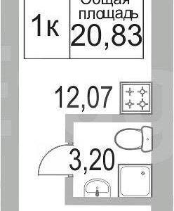 1 комнатная квпртира