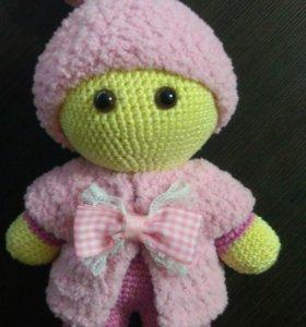 Пупсик йо-йо (вязаная кукла)