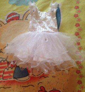 Платье снежинки / нарядное / праздничное платье