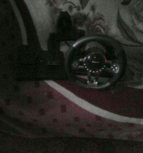 USB руль и педали с установочным диском