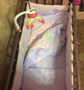 Детская кроватка для принцессы