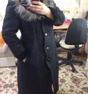 Пальто -дубленка
