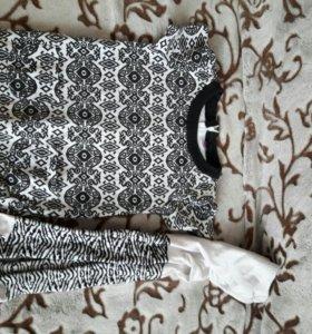 Платье с колготками в хорошем состоянии