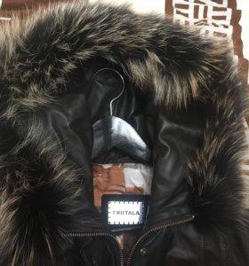 куртка зимняя из натуральной кожи