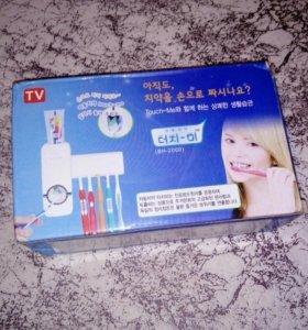 Органайзер - дозатор для пасты и зубных щеток