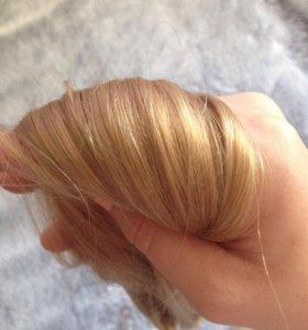Продам натуральные волосы на заколках новые