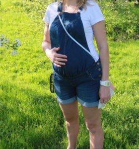 Джинсовый комбенизон для беременной