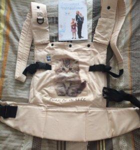 Продам слинг-рюкзак с капюшоном от 4 мес до 4 лет