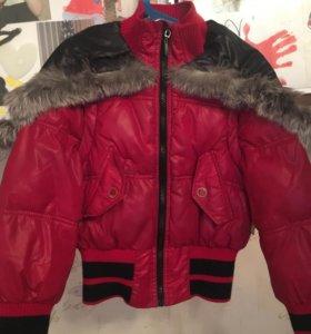 Куртка на тёплую зиму, можно делать желетку