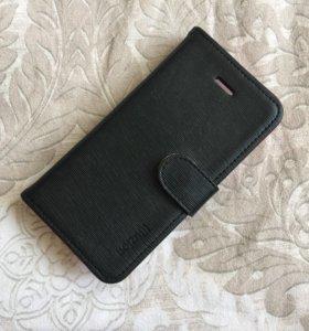 Стильный чехол-портмоне для iPhone 5 / 5s Spigen S