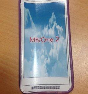 Чехол HTC One 2, новый фиолетовый