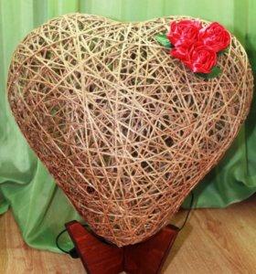 Винтажный ночник сердце