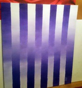 """Картина """"Пурпурные облака"""""""