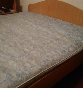 Кровать двуспальная метр 60 на 2