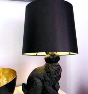 Стильная лампа заяц