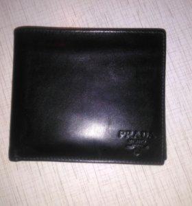 Кожаный кошелек PRADA(Италия)