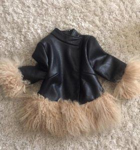 Куртка, экокожа, мех натуральный