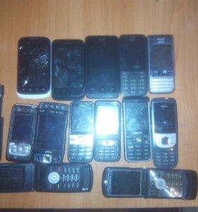 Телефоны на запчасти и батареики