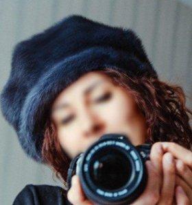 Зимняя шапка / берет (норка)