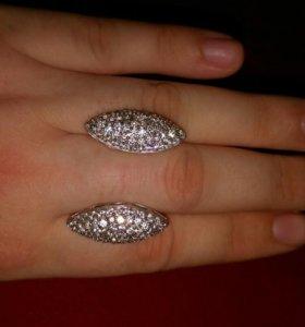Серьги серебро, фианиты