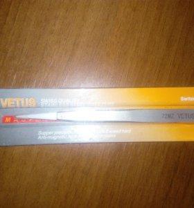 Пинцет с крамическими накладками Vetus