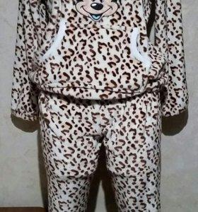 Пижама-костюм тёплая новая