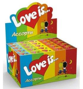 """Жвачка """"Love is"""" ❤ Ассорти"""