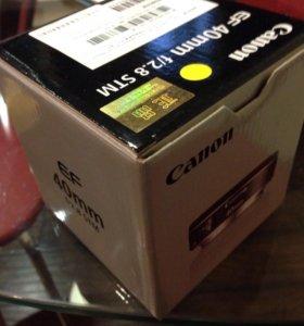 Canon 40 mm f 2,8 новый
