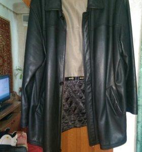 Кожаная куртка,большие вещи.