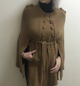 Пальто-кардиган ПОНЧО США новый шерсть+кашемир