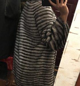 Пальто на кашемире норка