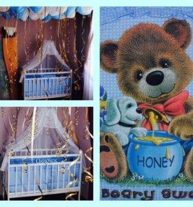 Продаётся детская кровать с комплектом.Б/у 6 мес.