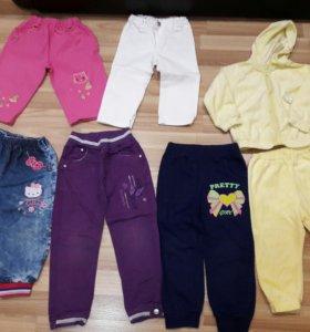 Джинсы,брюки на девочку 2-3 лет