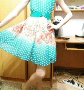 Нарядное- воздушное платье из шифона