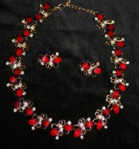 Ожерелье + серьги