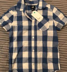 Рубашка новая H&M 116