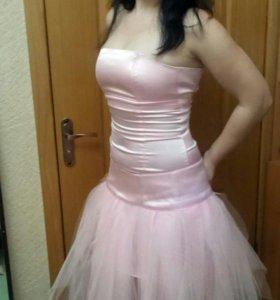 Платье с фатином 2в1