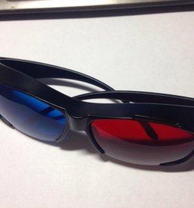 Анаглифные 3D-стерео очки