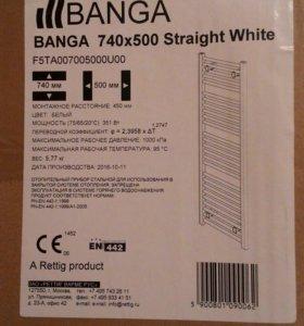 Водяной полотенцесушитель 740-500 мм белый